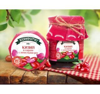 Варенье из ягод кизила с лепестками роз 310г Царство ароматов