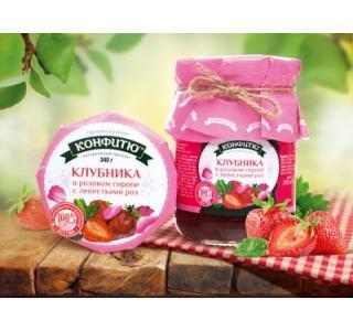 Варенье из клубники с лепестками роз 340г Царство ароматов