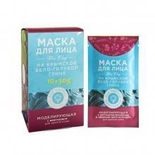 Маска МОДЕЛИРУЮЩАЯ для зрелой кожи на основе Крымской бело-голубой глины 1 саше-пакетик 30г. Дом природы купить