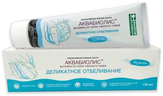 Биоактивная зубная паста Деликатное отбеливание АКВАБИОЛИС Формула здоровья