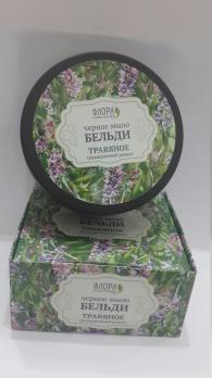 Черное мыло Бельди Травяное традиционное 150 г Флора