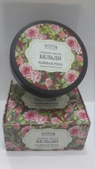 Черное мыло Бельди Чайная роза 150 г Флора