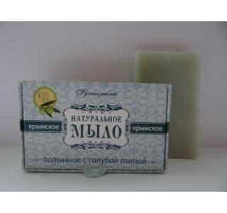 Мыло натуральное Полынное с голубой глиной 50 гр Крымская линия купить