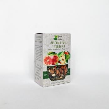 Зеленый чай с травами Спокойствие & Баланс КРЫМСКИЕ ТРАДИЦИИ  50гр