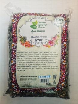Крымский травяной чай №27 Для бани Чайные традиции Крыма 100гр