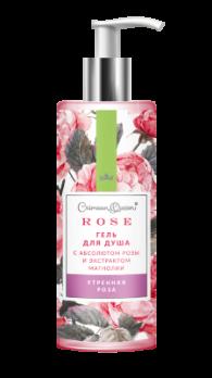 Гель для душа с абсолютом розы и экстрактом магнолии Утренняя роза Дом природы