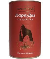 Крым чай КАРА ДАГ противопростудный с добавлением черного чая туба 80г купить