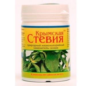 Стевия таблетированная 60 таблеток Крымская стевия