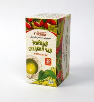 Зеленый чай со стевией и барбарисом 30 грамм 20 ф Крымская стевия купить
